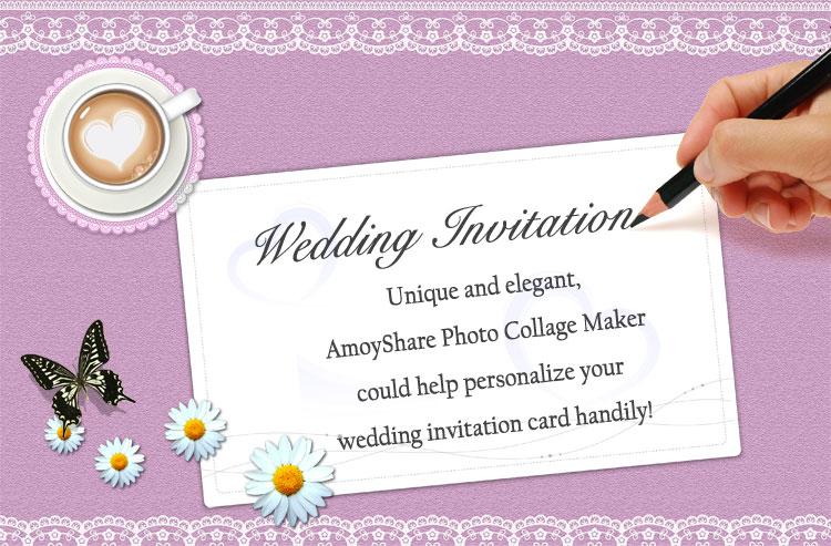 How To Create Wedding Invitation Card Amoyshare Photo Collage Maker