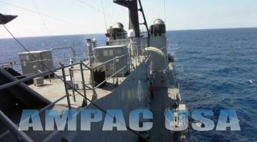 Ampac USA seawater desalination watermaker for Navy Ship