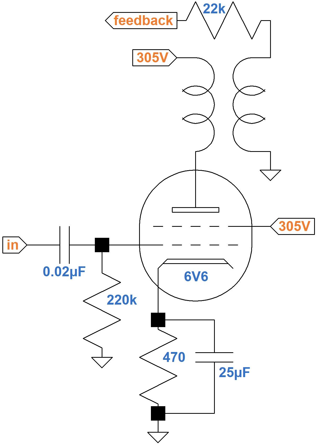 Fender Champ 5e1 Circuitysis