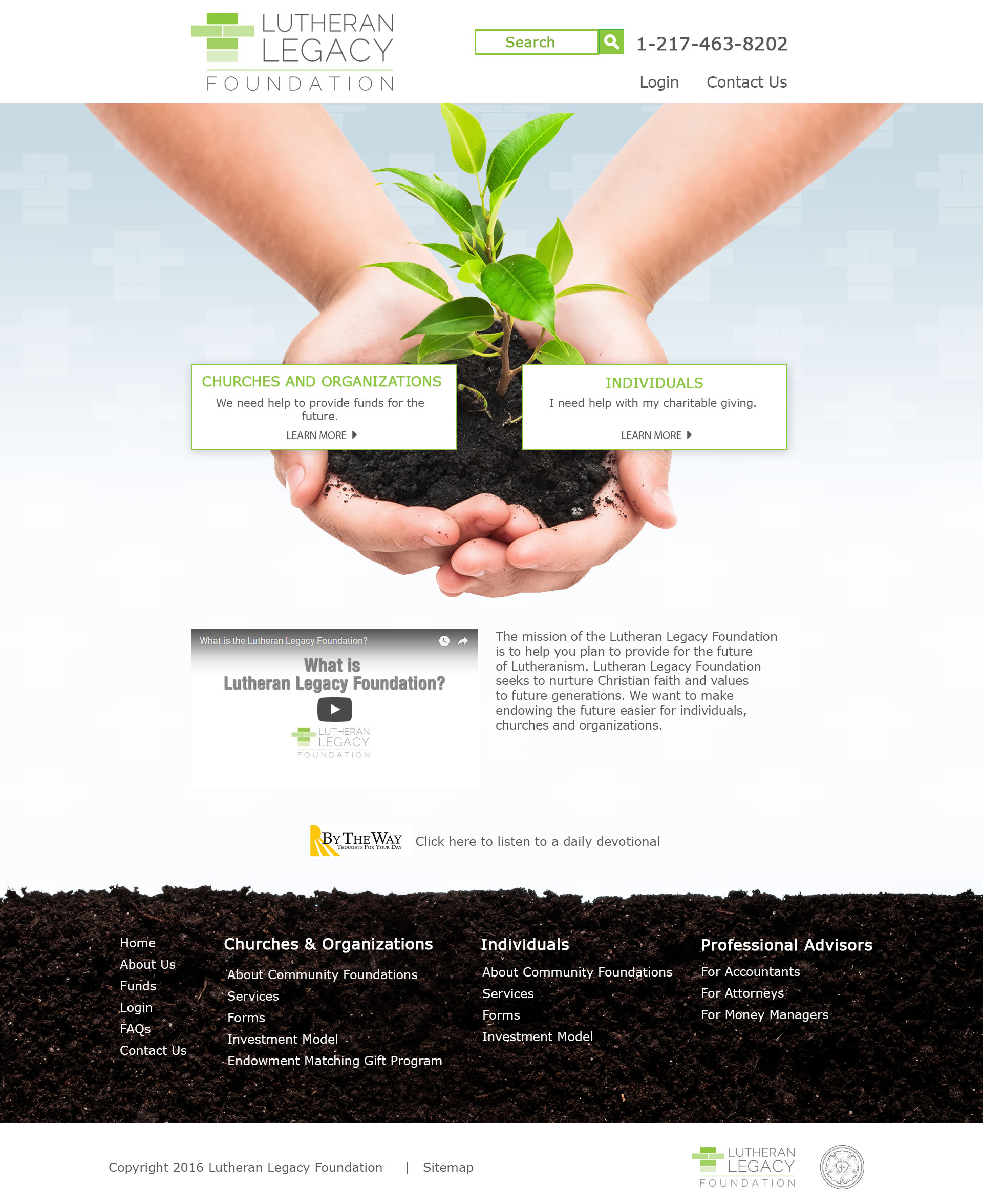 Lutheran Legacy Foundation Landing Page