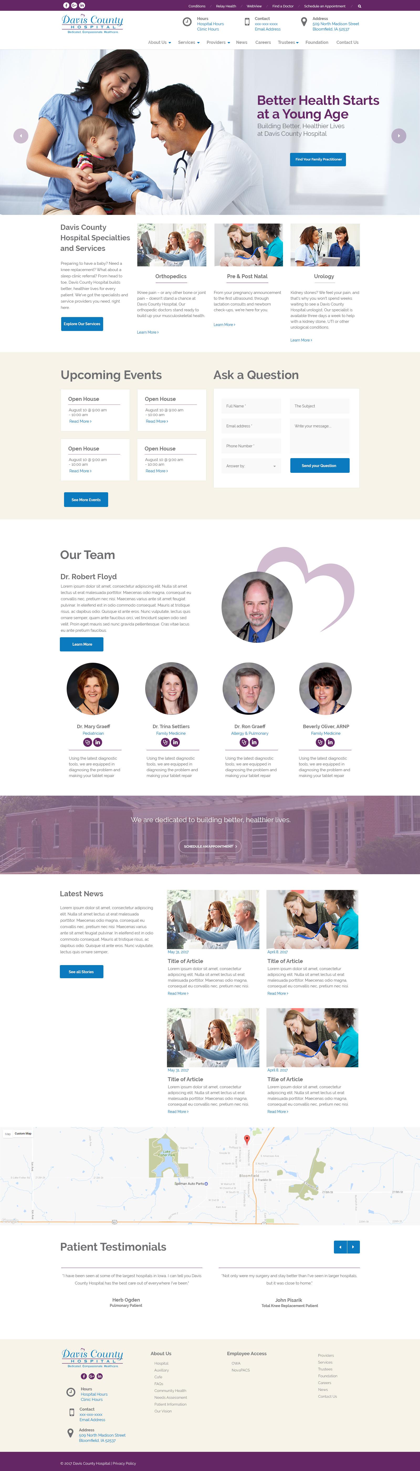 Davis County Hospital - Design #1