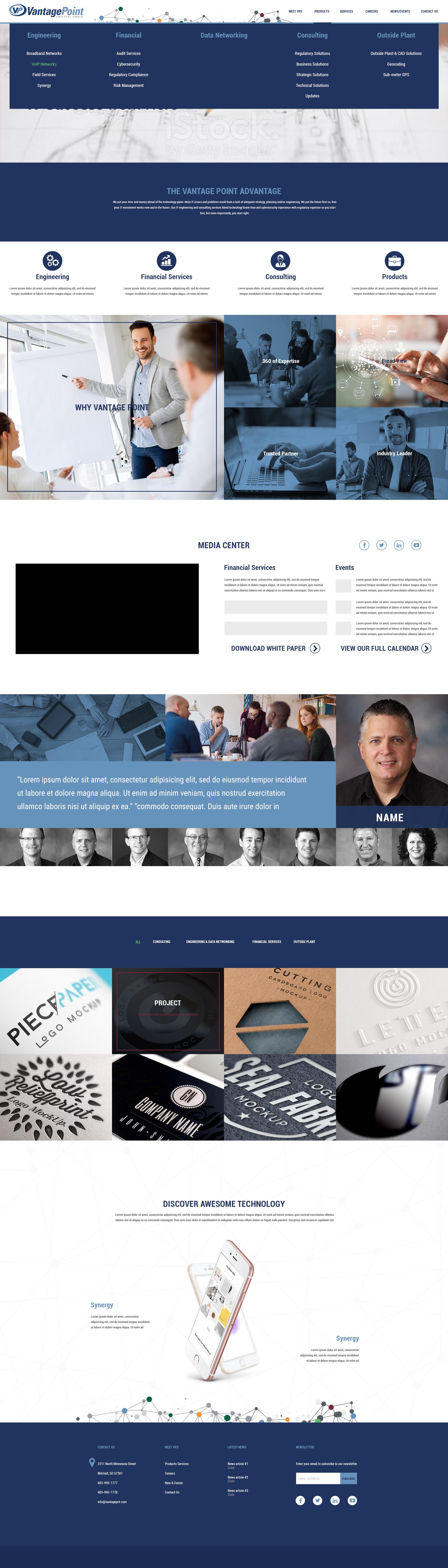 Vantage Point Design #2 - Homepage Hover