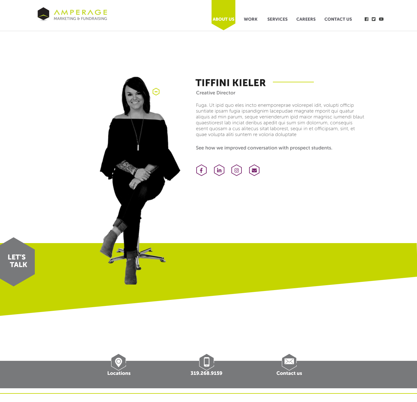 Meet the Team Design Hover