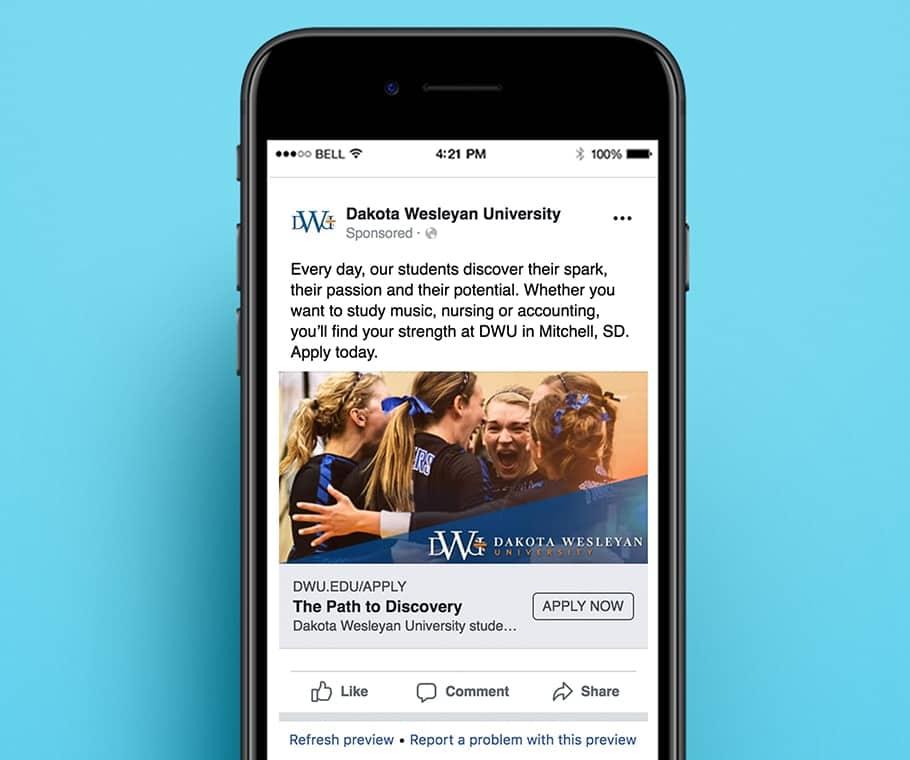 Dakota Wesleyan University Facebook Ads