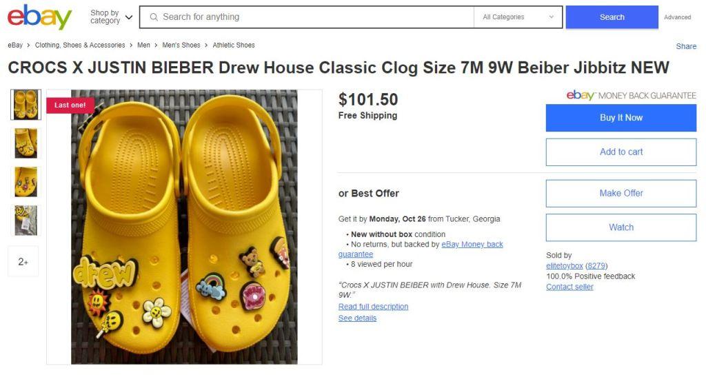 eBay - Beiber Crocs