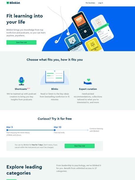 Blinkist Website
