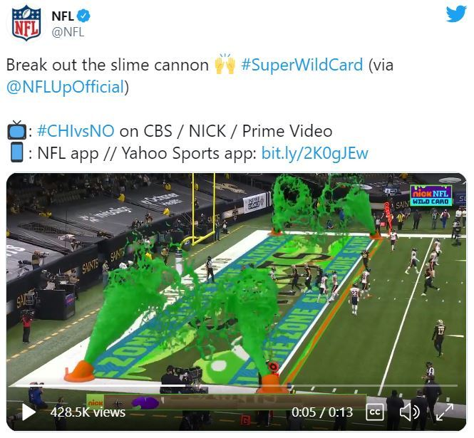 Slime Cannons for NFL Game