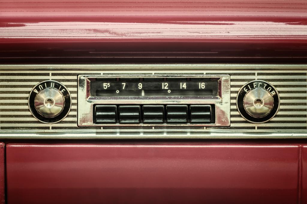 Vintage Car Radio Deck