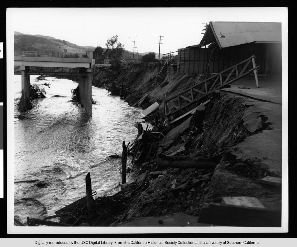 Flood_damage_to_a_bridge_in_Studio_City_1938