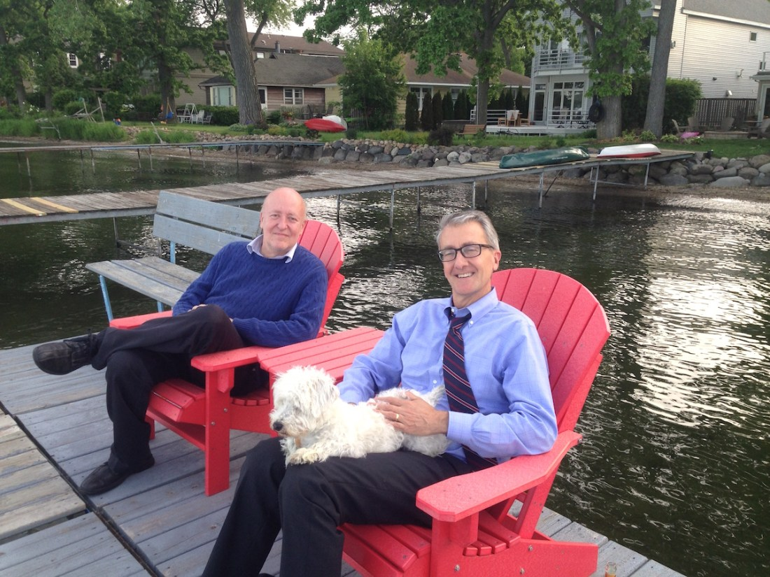 May 23, 2016 -- With my brother Rick on Lake Mendota, Wisconsin this summer.