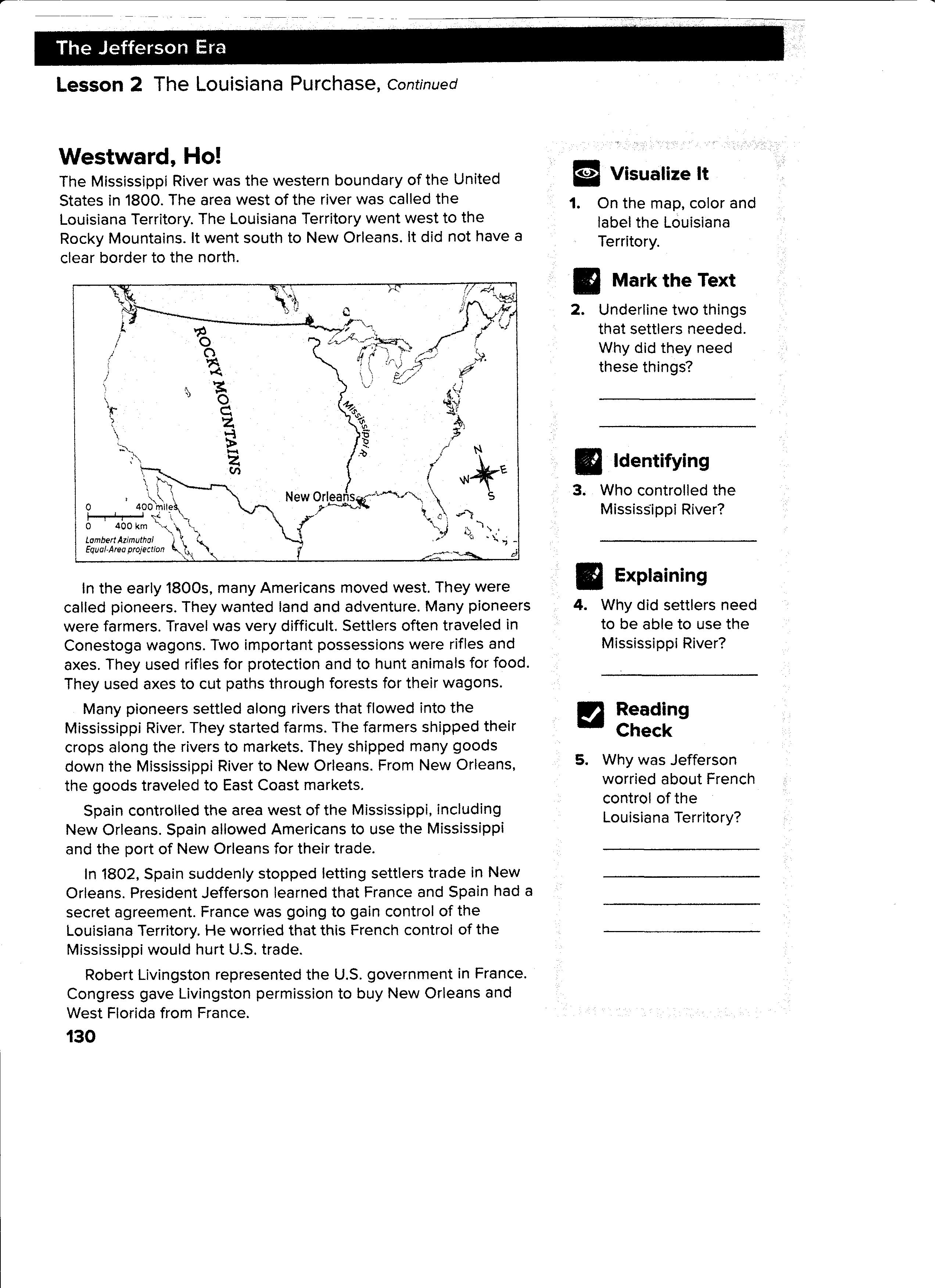 Worksheet Louisiana Purchase Worksheet Grass Fedjp
