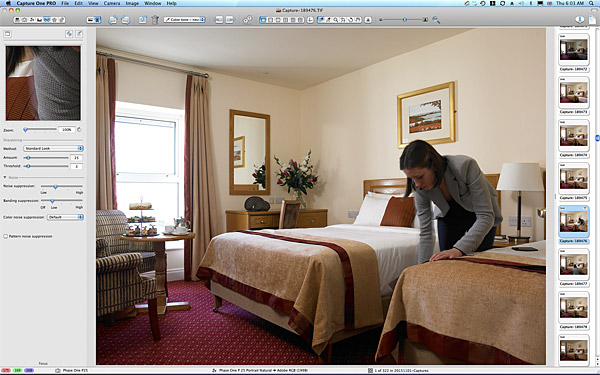 One of the first pictures taken in the Lakeview twin bedroom at the Hodson Bay Hotel.
