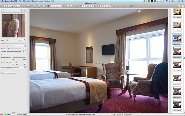 One of the first pictures taken in the Family bedroom at the Hodson Bay Hotel.