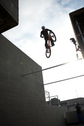 Danny Macaskill silhouette gap jump art of motion london