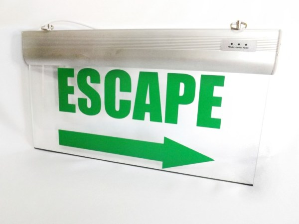 Señaletica Led ESCAPE FLECHA