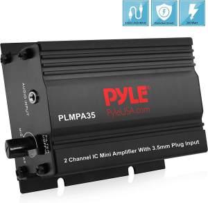 Dual Channel Mini Portable Stereo-Receiver Box Pyle PLMPA35