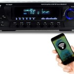 Pyle Wireless Bluetooth 4 Channel Home Theater Compact Stereo Receiver
