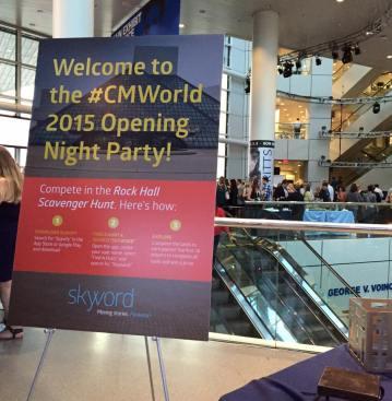 #CMWorld 2015 Opening Party