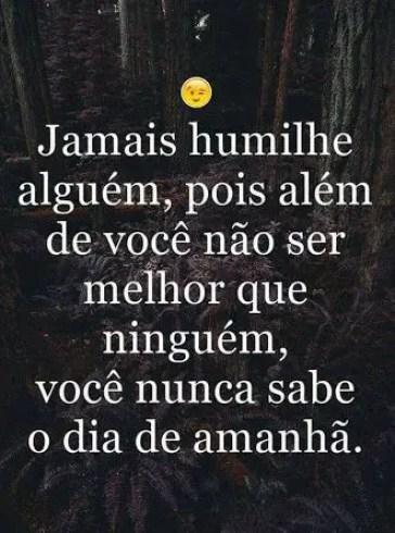Não humilhe as pessoas