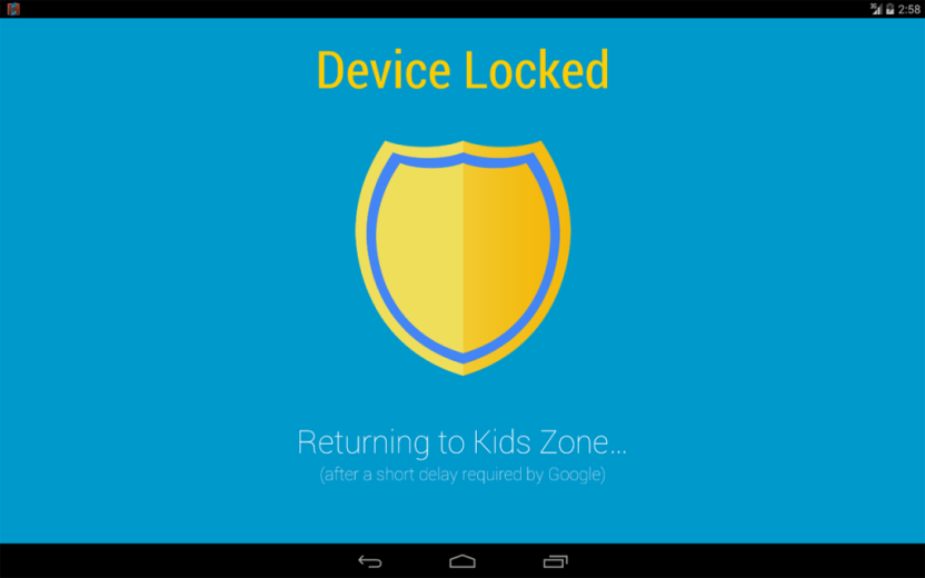 device locked kids zone security privacy