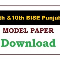 Model Paper 2021 For All BISE Punjab Boards 9th, 10th Class PDF
