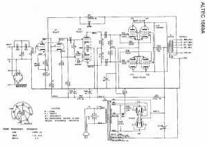 Schematic  Altec Lansing 1569A Tube Amplifier @ AmpsLab