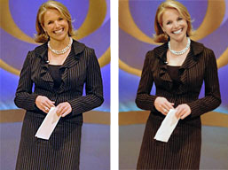 Katie Couric, before and after the retouchers got to her.