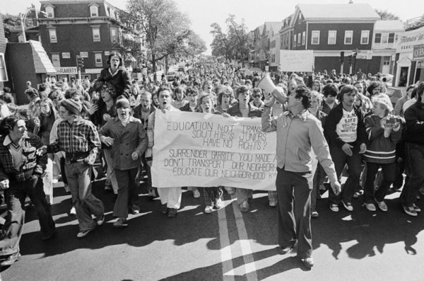 African American Integration Anti-School MA Busing Demonstration
