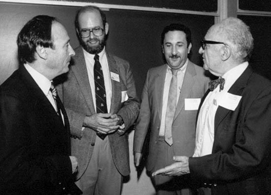 Burton Blumert, Lew Rockwell, David Gordon, and Murray Rothbard.