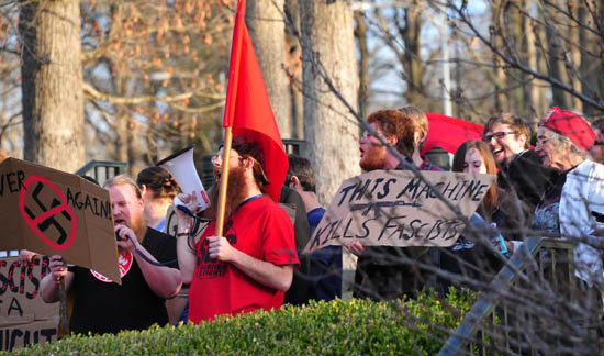 Anti-fa protest of the 2013 AmRen conference.
