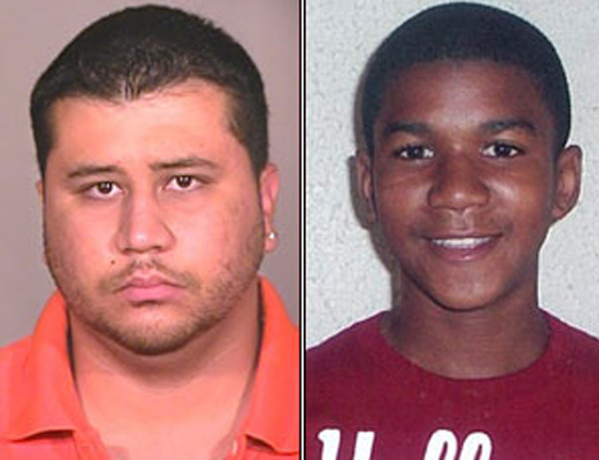 George Zimmerman and Trayvon Martin, as portrayed by the media.