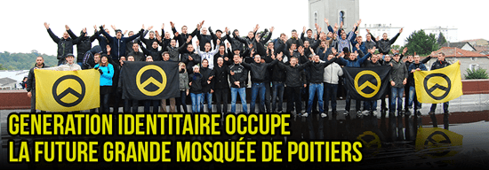 Generation Identitaire occupies the future grand mosque of Poitiers [Tours].