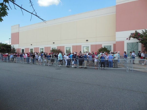 Line near front