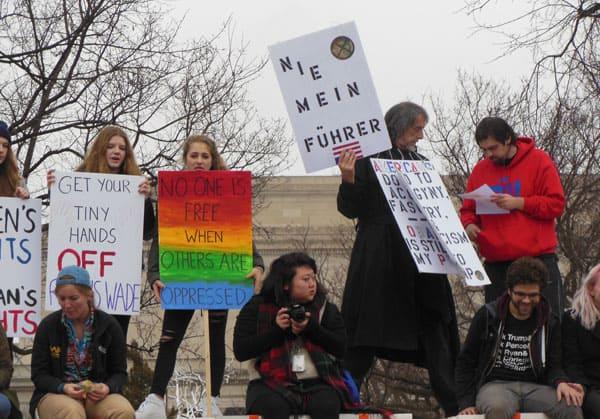 Trump protesters in Washington DC