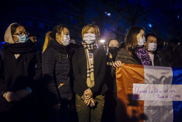 Chinese community in France Protest Police Brutality in Paris
