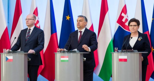 Leaders of Poland, Hungary, and Czech Republic