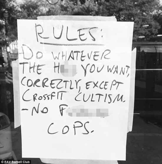 No Fucking Cops Sign
