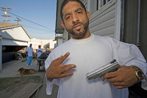 Black Gangster with Gun