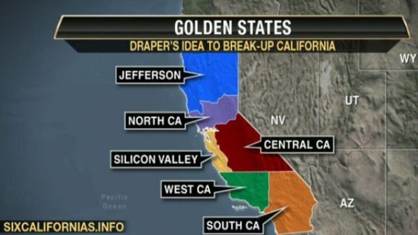Eine von vielen vorgeschlagenen Trennungen von Kalifornien.