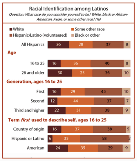 Racial Identification Among Latinos