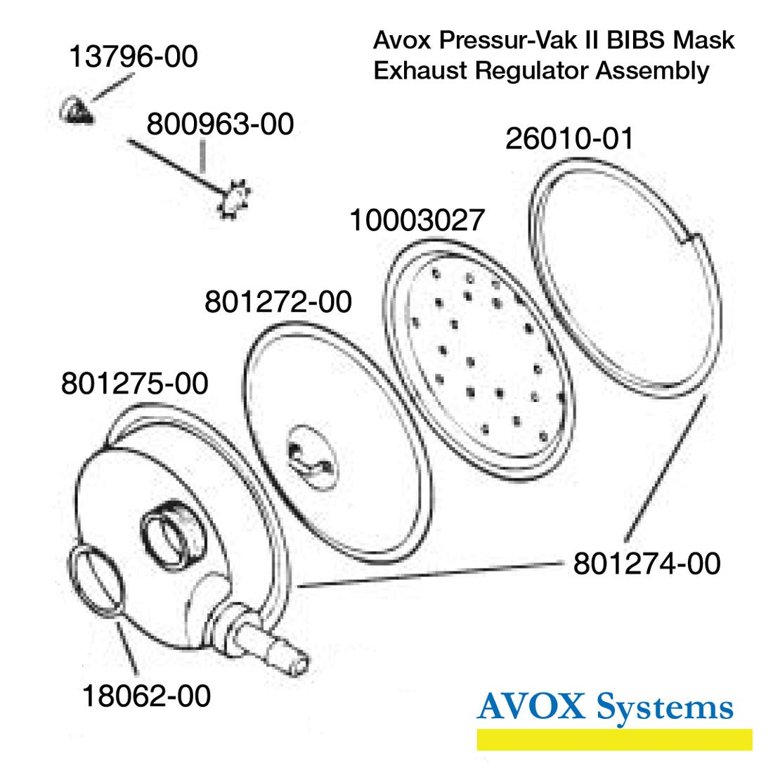 Avox Pressur Vak Ii Without Face Seal Harness 01 Xx