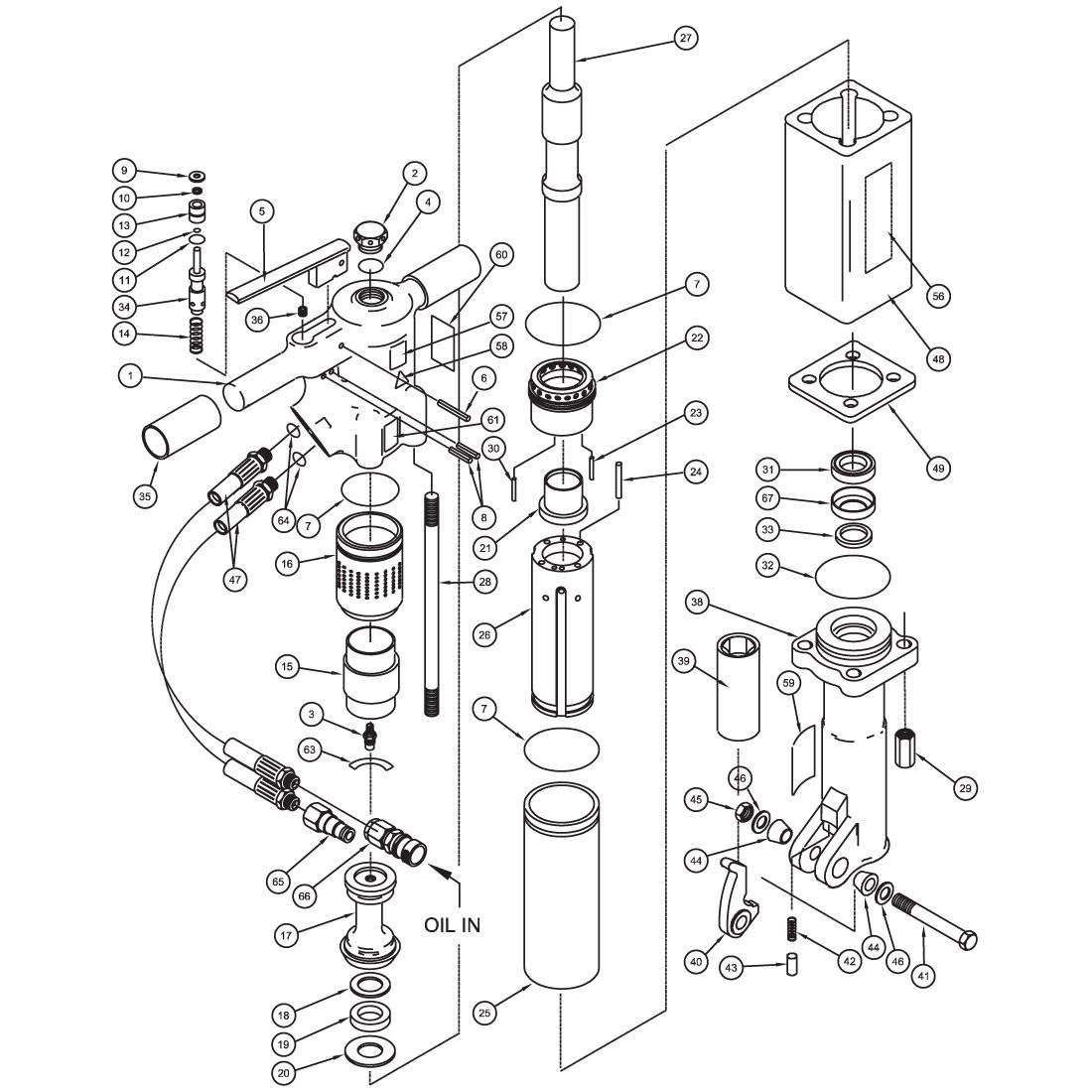 Stanley Br87 Heavy Duty Hydraulic Underwater Breaker