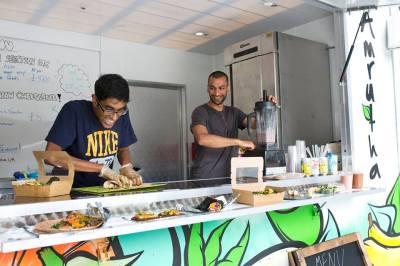 amrutha vegan food truck 1