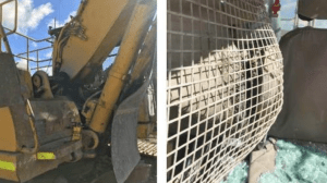 excavator safety boom failure can be catastrophic