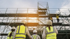 a scaffolder fell 4 metres at a site