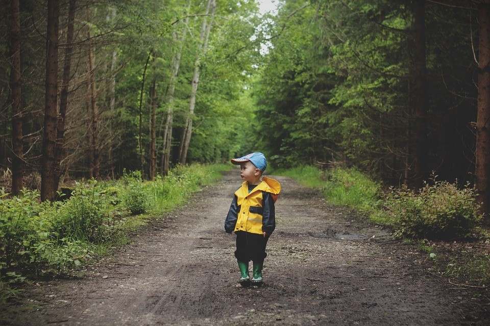kid in forrest