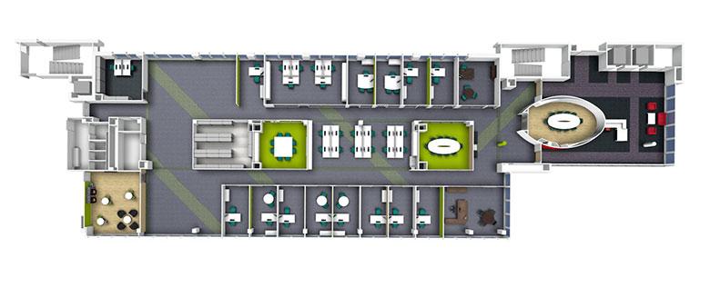 Architecte De Bureau AMSO Plan Damnagement De Bureau