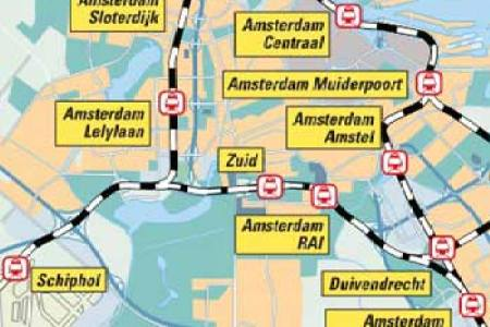 Amsterdam central station map home decorations hd picture of amsterdam centraal train station amsterdam rail station train station location holland dutch train rail maps amsterdam train tram map amsterdam rail maps freerunsca Gallery