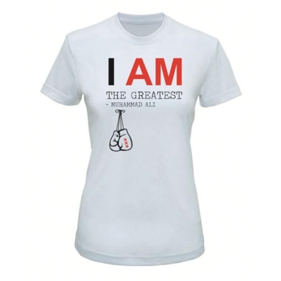 boks t-shirt i am the greatest vrouw