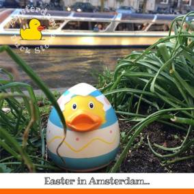 Practicing for Easter @ Herengracht, Amsterdam